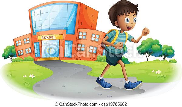 De un niño llendo a la escuela - Imagui