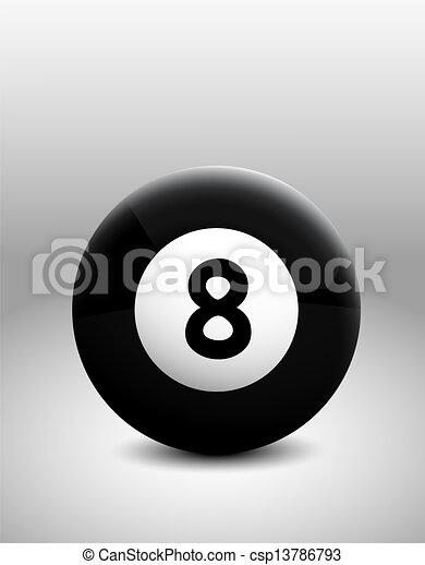 Vector Illustration Magic 8 Ball Eight Stockvector