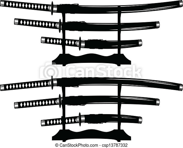 Vectors of katana, wakizashi and tanto - Vector ...