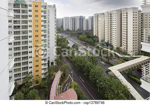 Singapore Government Housing - csp13789746