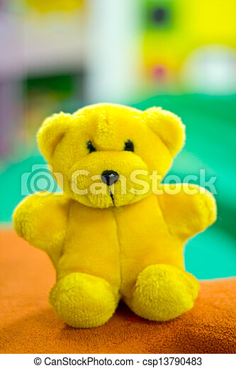 The yellow teddy bear