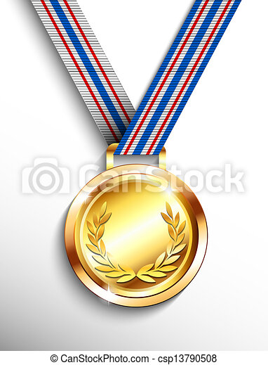 Clipart of Gold medal - Gold medal csp13790508 - Search Clip Art ...