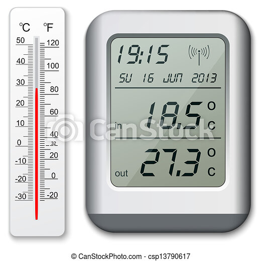 Digital Thermometer Drawing Normal And Digital Thermometer