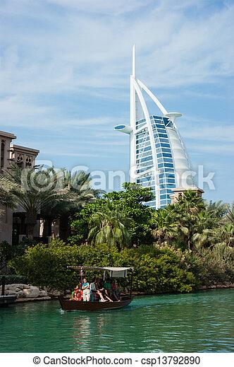 DUBAI, UAE - NOVEMBER 15: A general view of the world\'s first seven stars luxury hotel Burj Al Arab \