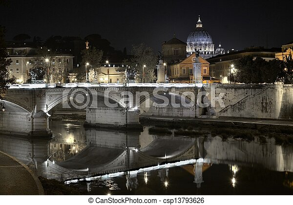 Tiber's Reflection of Religion - csp13793626