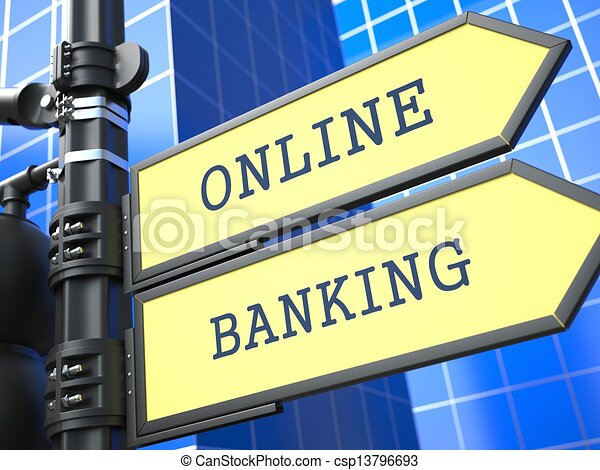 Business Concept. Online Banking Sign. - csp13796693