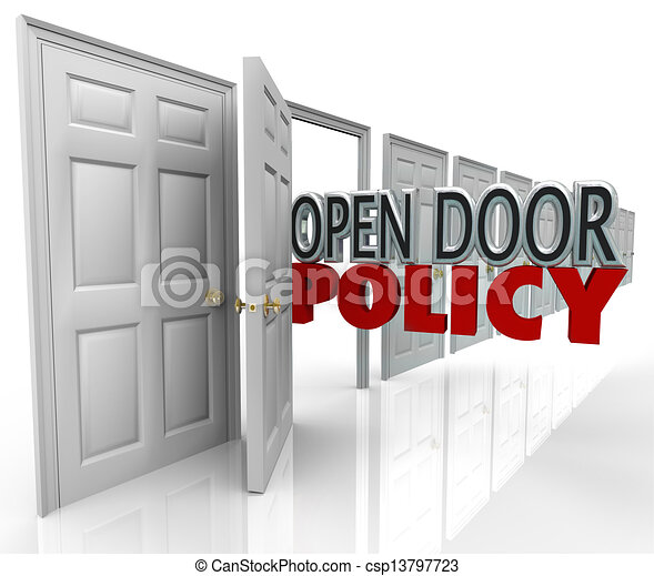 Open Door Welcome Clipart clip art of open door policy words management welcome