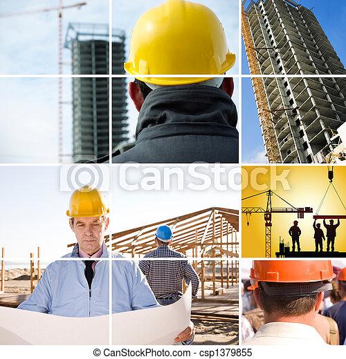 konstruktion,  under - csp1379855