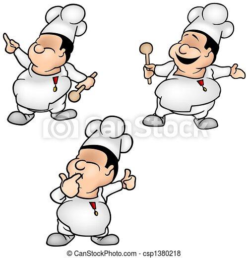 Stock de Ilustraciones de cocinero, Conjunto, 1, -, coloreado ...