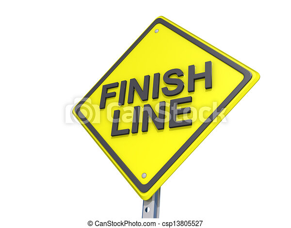 Clip Art of Finish Line Yield Sign White Background - A yield road ...