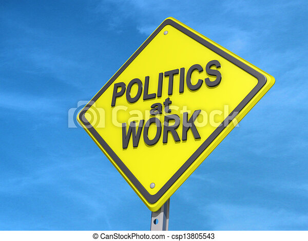 Politics at Work Yield Sign - csp13805543