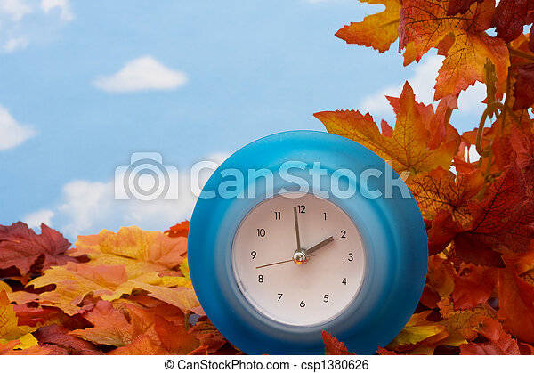 Fall Back Time Change - csp1380626