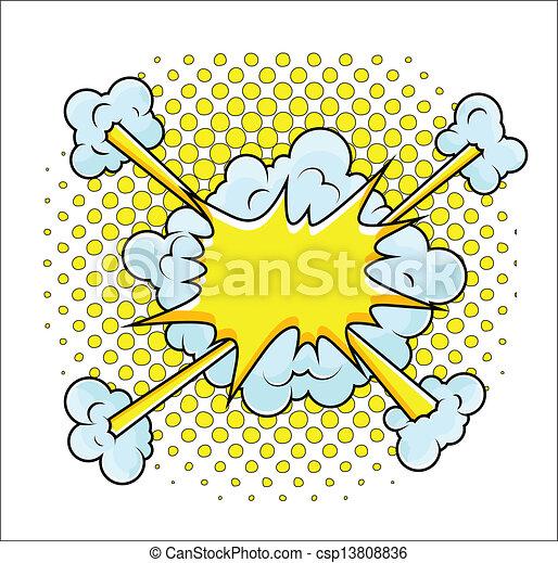 Comic Explosion Vector Illustration - csp13808836