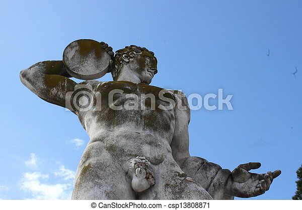Olympic sport statue - discus throwing - csp13808871