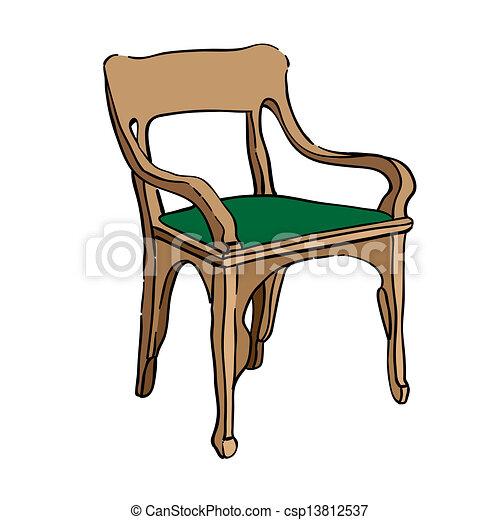 Dibujos de silla jugendstil mano dibujado ilustraci n for Imagenes de sillas