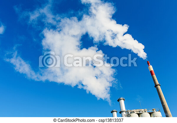 fuming industrial chimney - csp13813337