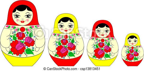 Vector Clip Art of Traditional russian matryoshka csp10130816 ...
