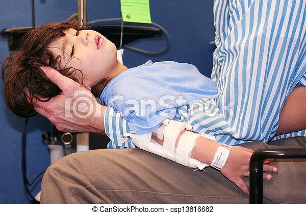 Little boy in Emergency Room - csp13816682