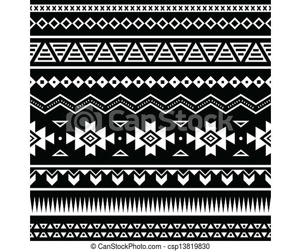Vecteur azt que seamless mod le banque d 39 illustrations illustrations libres de droits - Dessin azteque ...