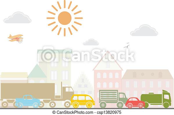 Vectors Illustration of City landscape. Vector ...