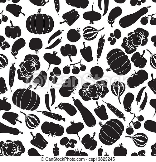 Vegetables seamless pattern - csp13823245