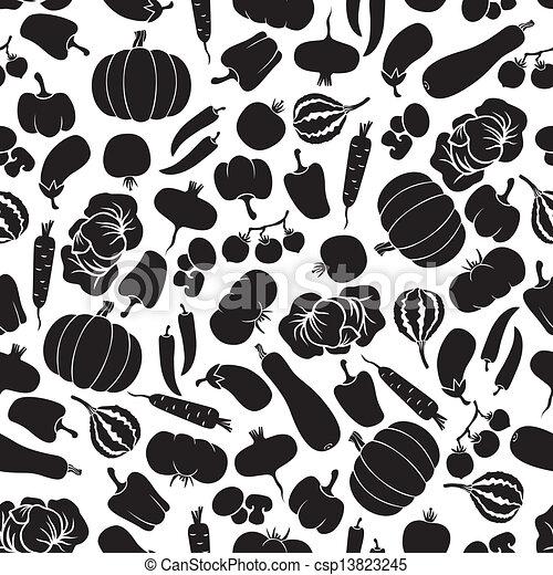 Vegetables seamless pattern - csp13823245