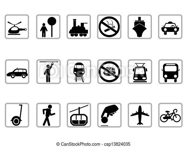 public transportation buttons - csp13824035
