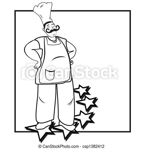 Confident happy five stars cook - csp1382412