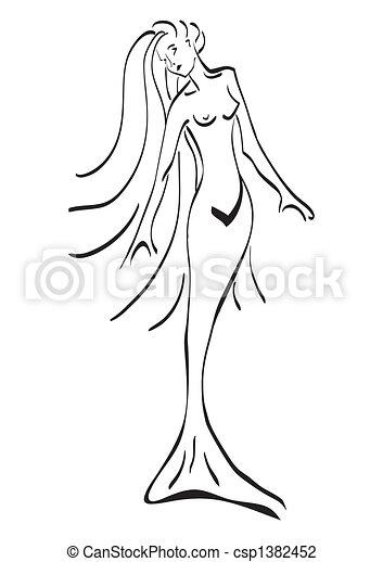 Illustrazioni Vettoriali Di Tatto Sirena