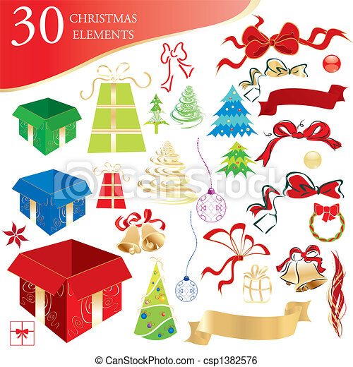 Christmas objects set - csp1382576