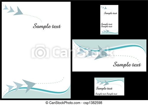 Business stationery template - csp1382598