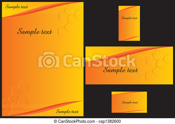 Business stationery template - csp1382600