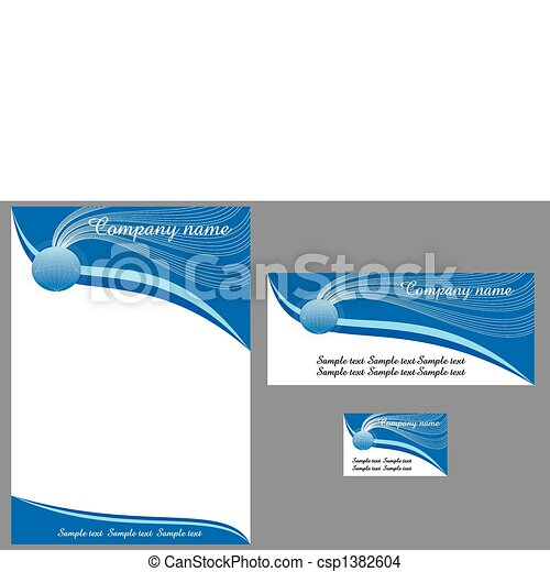 contemporary letterhead - csp1382604