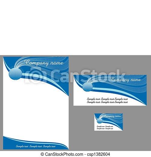 contemporary letterhead - csp1382604