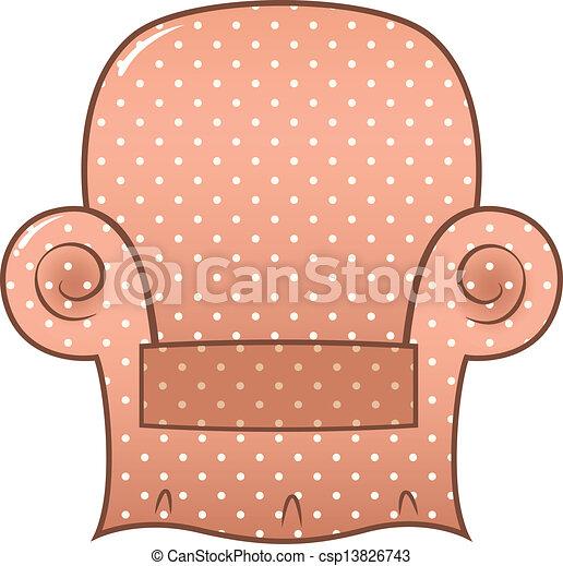 Eps vektor von weinlese brauner punktiert stuhl for Brauner stuhl