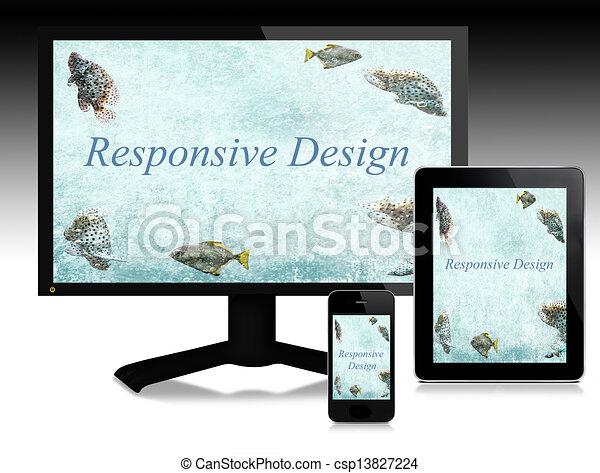 Responsive design, scalable websites - csp13827224