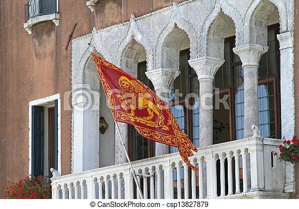 Venice flag - csp13827879