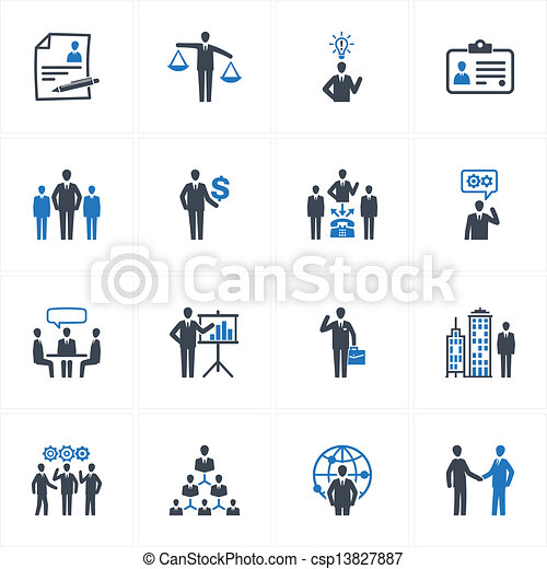 Vector Of Management And Human Resource Icons Set Of 16