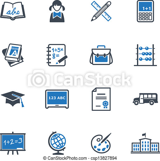 School and Education Icons 1 - csp13827894