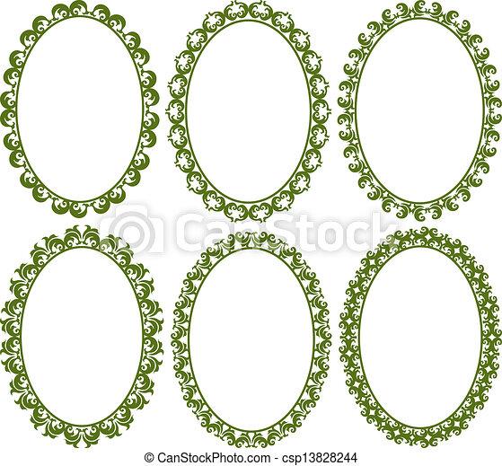 oval borders - csp13828244