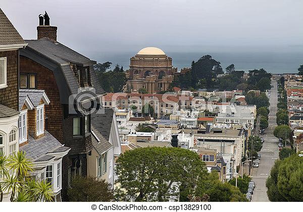San Francisco Presidio Residential Neighborhood - csp13829100