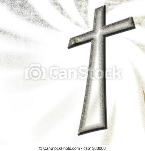 christian cross  - csp1383008
