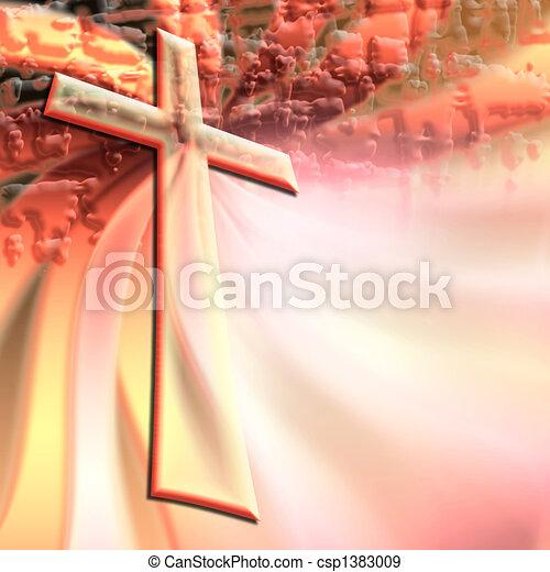 christian cross  - csp1383009