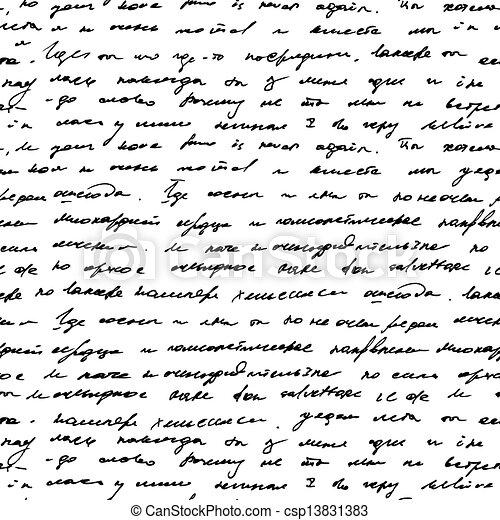 Seamless vintage text pattern on  background - csp13831383