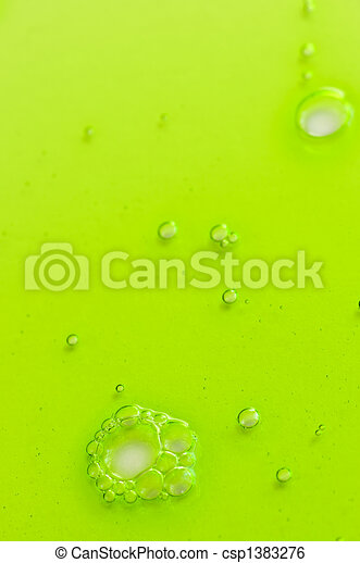 Abstract background with green liquid - csp1383276
