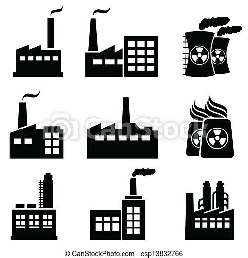 Industrial buildings and factories - csp13832766