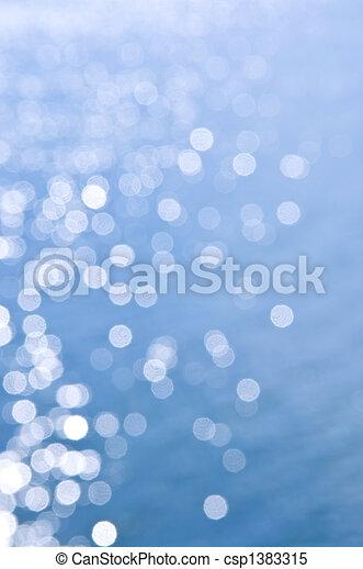 Blue water background - csp1383315