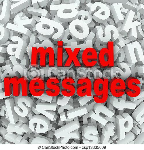 混ぜられた, 貧しい, コミュニケーション, メッセージ, 誤解された - csp13835009