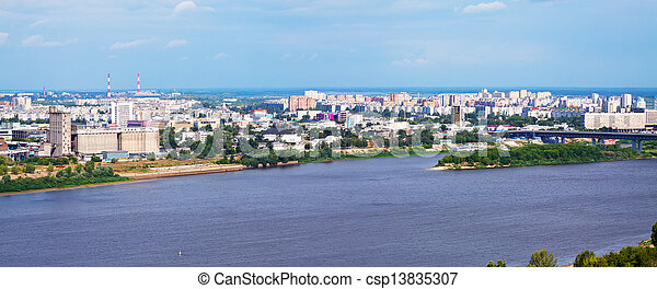 residential district at Nizhny Novgorod - csp13835307