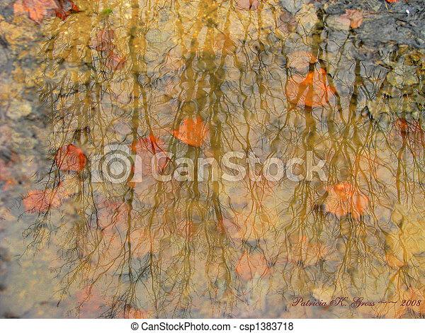 impressionismo, poça - csp1383718